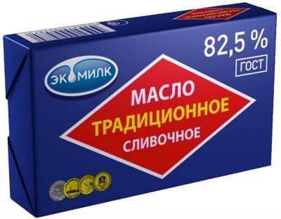 Масло сливочное Традиционное 82,5% Экомилк 450гр