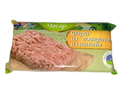 Фарш свино- говяжий 500гр.(14 шт)