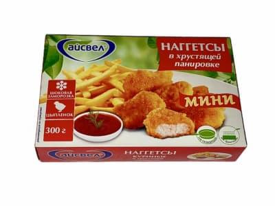 Наггетсы куриные в хрустящей панировке, 300 гр