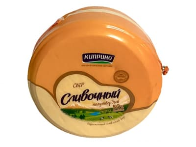 Сыр Сливочный полутвердый ТУ Киприно