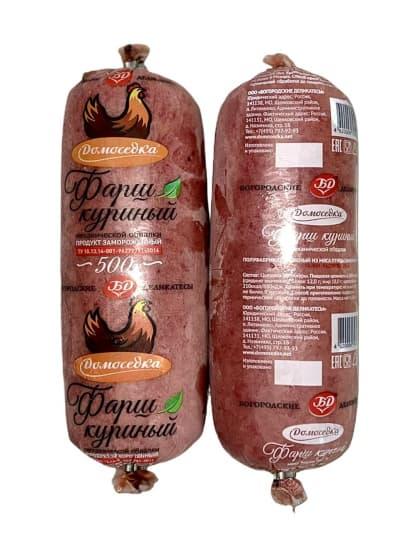 Фарш куриный в тубах 500 гр (36 шт)