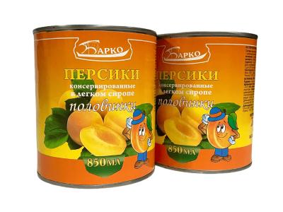Персики консервированные половинки в легком сиропе 850мл Барко