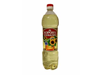"""Масло подсолнечное Премиум """"Корона Изобилия"""" 1 л"""
