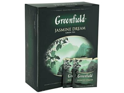 Чай Jasmine Drim (зеленый с жасмином) Гринфилд 100 пак.
