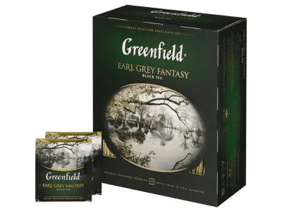 Чай Earl Grey fantasy (бергамот) Гринфилд 100 пак.