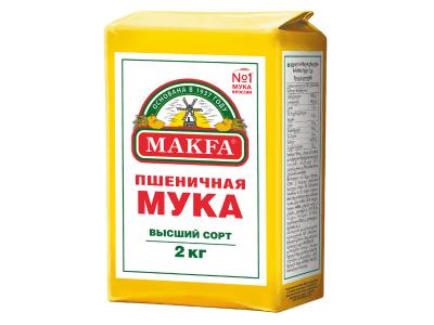 """Мука пшеничная """"Макфа"""" высший сорт 2кг"""