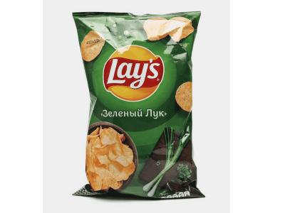 Чипсы картофельные Lays Зелёный Лук 150гр