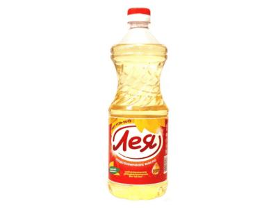 Масло подсолнечное рафинированное Лея 0,9 л
